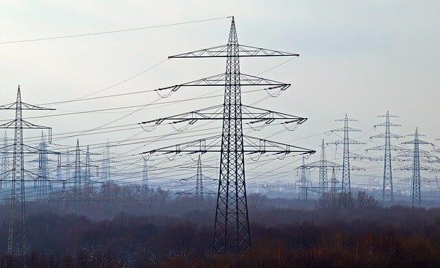 group of power lines that emit EMF radiation