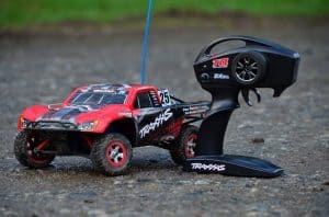 Remote control cars operate via radio waves.
